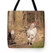 Rooster In The Woods. Tote Bag