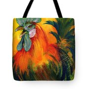 Rooster Of Another Color Tote Bag