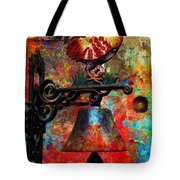 Rooster On The Door Whimsy Tote Bag