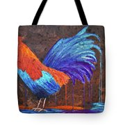 Rooster Painting Tote Bag