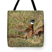 Rooster Pheasants Tote Bag