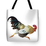 Rooster Running Tote Bag