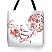 Rooster - Sign Of Chinese New Year Tote Bag