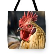 Rooster Up Close And Personal Tote Bag