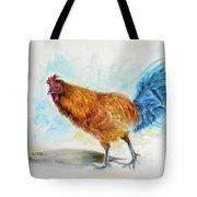 Rooster Watercolor Tote Bag
