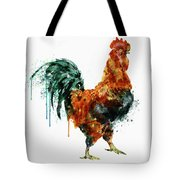 Rooster Watercolor Painting Tote Bag