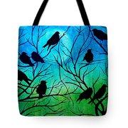 Roosting Birds Tote Bag