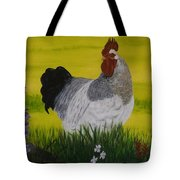 Roosty And Wild Flowers Tote Bag