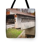Root Rd Covered Bridge  Tote Bag