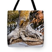 Roots Gripping The Edge Tote Bag