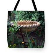 Rope Edged Bird Bath Tote Bag