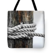 Rope Fence Fragment Tote Bag