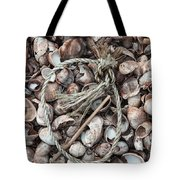 Rope In Shells Tote Bag