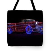 Rope Light Art 1957 Chevy Tote Bag
