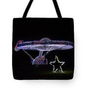 Rope Light Art Star Trek Enterprise Tote Bag