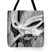 Rope On A Fence Tote Bag
