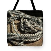 Rope On The Dock Tote Bag