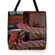 Rope On Wood Tote Bag