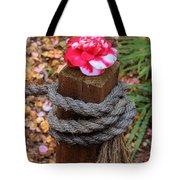 Rope Pillar And Camellia Tote Bag