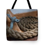Eagle Shackle And Line Tote Bag