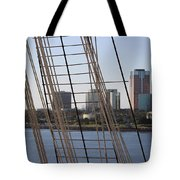 Ropes And Cables Of The Queen Mary Tote Bag