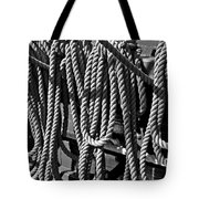 Ropes For The Rigging Bw 1 Tote Bag