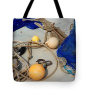 Ropes Nets And Bouys Tote Bag