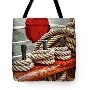 Ropes Of A Sailboat Tote Bag