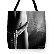 Ropes Over Nude Woman Body Tote Bag