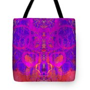 Rorschach Test Art Blue Tote Bag