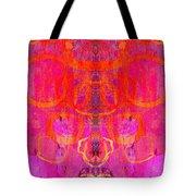 Rorschach Test Art Magenta Tote Bag