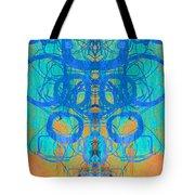 Rorschach Test Art Orange Tote Bag