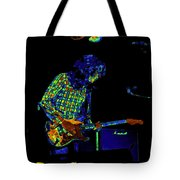 Saturated Blues Rock With Text Tote Bag