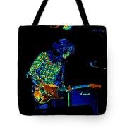 Saturated Blues Rock Tote Bag