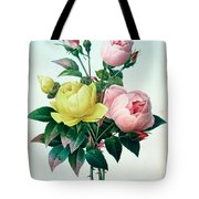 Rosa Lutea And Rosa Indica Tote Bag by Pierre Joseph Redoute