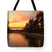 Rosario Beach Sunset Tote Bag