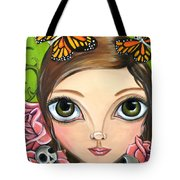 Rose Amongst The Butterflies Tote Bag