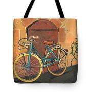 Rose And Bicycle Tote Bag