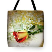 Rose And Bottle Tote Bag