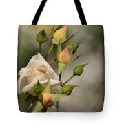 Rose And Buds Tote Bag by Atul Daimari