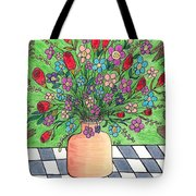 Rose And Flowers Tote Bag