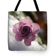 Rose And Snow Tote Bag