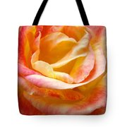 Rose Art Pink Yellow Summer Rose Floral Baslee Troutman Tote Bag