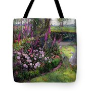 Rose Bed And Geese Tote Bag by Timothy Easton