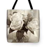 Rose Bouquet In Vinatage Tote Bag