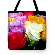 Rose Bouquet Painting Tote Bag
