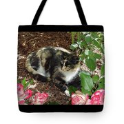 Rose Bower For A Cat Tote Bag