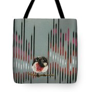 Rose Breasted Grosbeak And Song Tote Bag