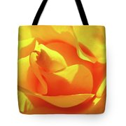 Rose Bright Orange Sunny Rose Flower Floral Baslee Troutman Tote Bag