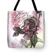Rose Bud Pink Tote Bag